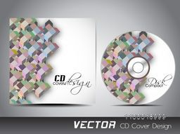 Creative CD Cover with colorful abstract design for your business.