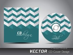 Green CD Cover with abstract design for your business.