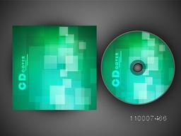 Shiny green CD Cover design for business concept.