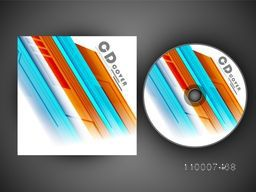 Colorful abstract design decorated CD Cover for your business.