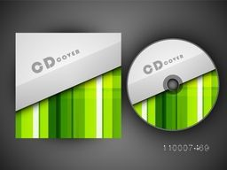 Creative CD Cover with abstract design for business.
