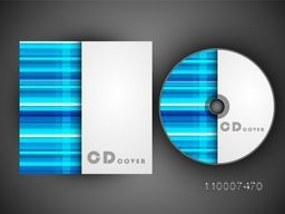 Abstract design decorated CD Cover for business.