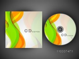 Abstract waves decorated CD Cover design for business.
