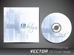 CD Cover presentation with abstract design for business.