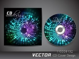 Glowing abstract design decorated CD Cover for business concept.