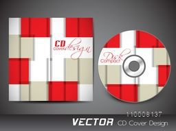 Creative abstract design decorated CD Cover for business.