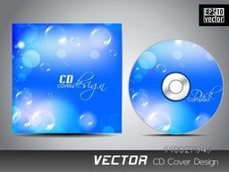 CD Cover design with glossy bubbles for your business.