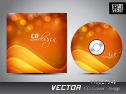 Creative CD Cover design in shiny orange color for your business.