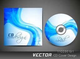 Creative CD Cover design with abstract waves for your business.