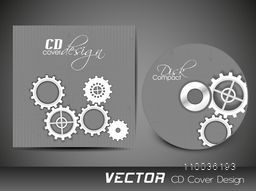 CD Cover design with cogwheel for your business.