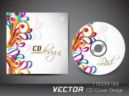 Colorful floral design decorated beautiful CD Cover design.