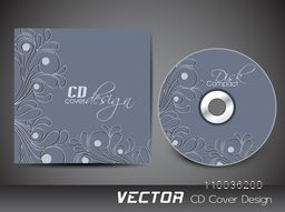 Floral design decorated beautiful CD Cover design.