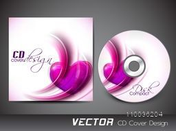 Creative CD Cover design with glossy pink heart for your business.