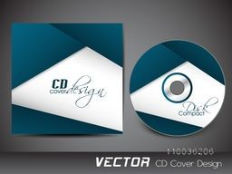 Creative abstract design decorated CD Cover for your business.