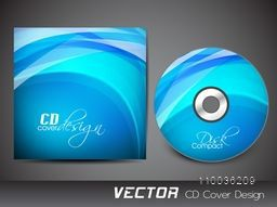 Creative sky blue CD Cover design for your business.