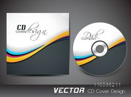 Creative CD Cover design with colorful waves for your business.