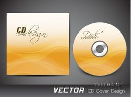 Creative CD Cover with abstract waves for your business.
