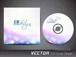 Creative CD Cover design with colorful abstract waves for your business.