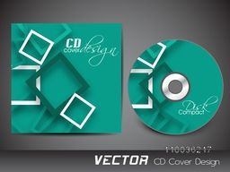 Creative CD Cover design in green color for your business.