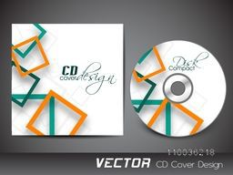 CD Cover with creative abstract design square for your business.