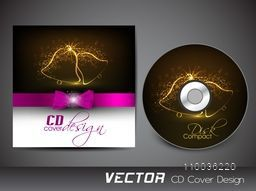 Creative CD Cover design with shiny Xmas Tree for your business.