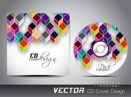 CD Cover with creative colorful abstract design.