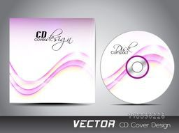 Glossy pink waves decorated CD Cover design for your business.