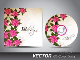 Creative glossy pink flowers decorated CD Cover design for your business.