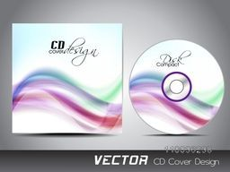 Colorful abstract waves decorated CD Cover design for your business.