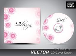 Pink glossy flowers decorated CD Cover design.