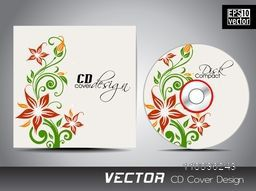 Colorful flowers decorated CD Cover design.