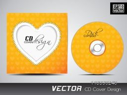 Creative CD Cover design with heart shape for your business.