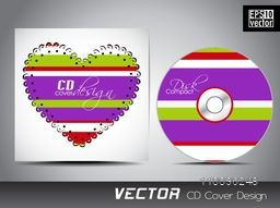 Creative CD Cover design with colorful heart shape for your business.