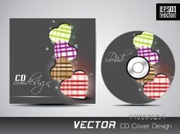 Creative CD Cover design with colorful hearts for your business.
