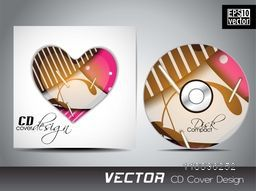 Creative CD Cover design with heart for your business.