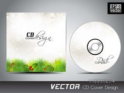 Glossy fir tree and mistletoe decorated CD Cover design for your business.