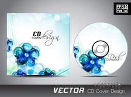 Creative  blue flowers decorated CD Cover for your business.