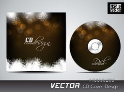 Creative fir tree and snowflake decorated CD Cover design for your business.