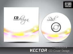 Creative CD Cover with colorful abstract waves.