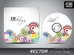 Colorful floral spiral design decorated CD Cover design.