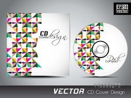 Creative CD Cover with colorful abstract design.