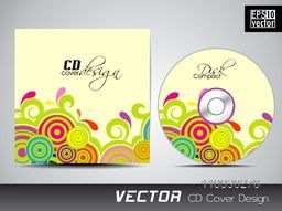 Colorful foral spiral design decorated CD Cover design.