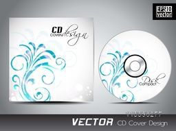 Shiny floral design decorated CD Cover design for your business.