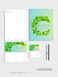 Professional corporate identity kit for nature concept, includes Letterhead, Brochure, Envelopes, Visiting Cards and stationary.
