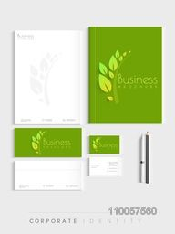 Corporate identity kit for nature concept includes Letterhead, Brochure, Envelopes, Visiting Cards and stationary.