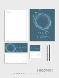 Creative corporate identity kit for your business includes Visiting Cards, Envelopes, Brochure, Letterhead and stationary.