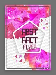 Creative abstract flyer, template or banner design with color splash.
