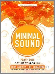 Creative abstract Template, Banner or Flyer design with date and time details for Music Party celebration.