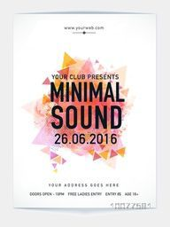 Creative Template, Banner or Flyer with abstract design for Music Party celebration.