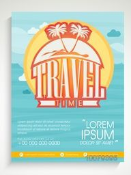 Creative Flyer, Banner or Template design for Tour and Travel concept.